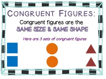 Congruent & Similar Figures Anchor Chart