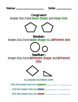 Congruent, Similar, or Neither