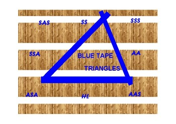Congruent Triangle -  Blue Tape Triangles