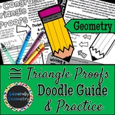 Congruent Triangle & CPCTC Proofs Doodle Guide & Practice Worksheet; Geometry