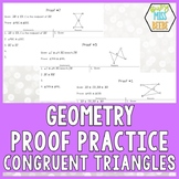 Congruent Triangle Proof Cards