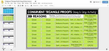 Congruent Triangle Proofs Drag & Drop: DIGITAL VERSION for Google Slides™