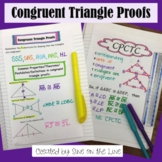 Congruent Triangle Proofs- Student Notes (Including CPCTC)