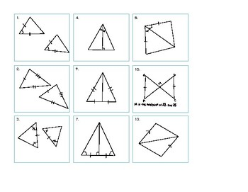 Congruent Triangle Shortcut Sorting