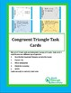 Geometry:  Congruent Triangle Task Card Bundle