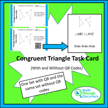 Congruent Triangle Task Card Bundle