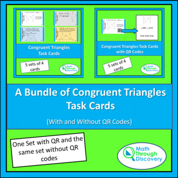 Congruent Triangles Task Card Bundle