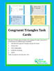 Geometry:  Congruent Triangle Task Cards