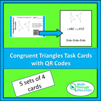 Congruent Triangle Task Cards with QR Codes
