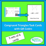 Congruent Triangles Task Cards with QR Codes
