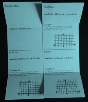 Congruent Triangle Transformations Geometry Foldable By