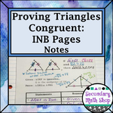 Congruent Triangles - 5 Methods for Proving Congruent Interactive Notebook Pages