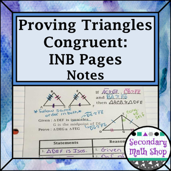 Congruent Triangles - 5 Methods for Proving Congruent Inte