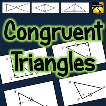 Congruent Triangles Activity Sss Sas Asa Aas And Hl By Math Giraffe
