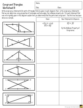 Congruent Triangles Activity: SSS, SAS, ASA, AAS, and HL by Math ...
