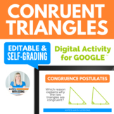 Congruent Triangles Digital Activity for Google Drive™ - SSS SAS ASA AAS & HL
