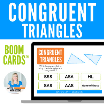 Congruent Triangles Boom Cards™