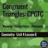 Congruent Triangles: CPCTC Lesson
