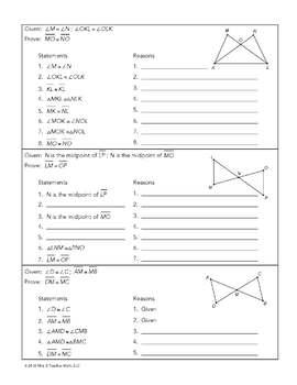 Congruent Triangles CPCTC Lesson