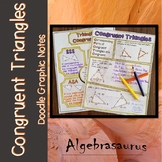Congruent Triangles: CPCTC, SSS, SAS, ASA, AAS Doodle Note