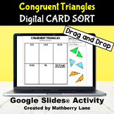 Congruent Triangles Card Sorting Activity Digital Interact