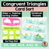Congruent Triangles Card Sorting Activity - Geometry Inter