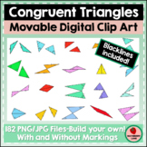 Congruent Triangles - Clipart Images Geometry Math Shapes
