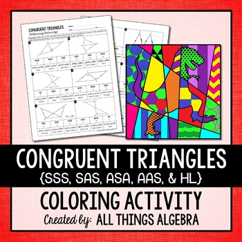 Congruent Triangles Coloring Activity