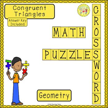 Congruent Triangles Crossword Puzzle