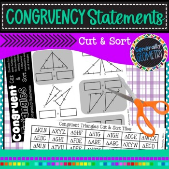 Congruent Triangles Cut & Sort: Completing Congruency Statements