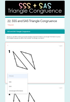 Congruent Triangles- Digital Assignment BUNDLE for use with Google