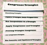 Congruent Triangles Flipbook