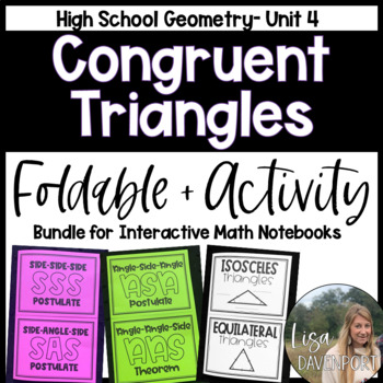 Congruent Triangles (Geometry Bundle #3)