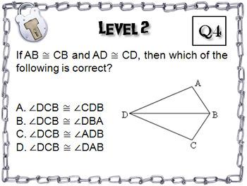 Congruent Triangles: Geometry Escape Room - Math (SSS, SAS, ASA, AAS Activity)