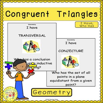 Congruent Triangles I Have, Who Has Game