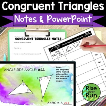 Congruent Triangles: Interactive Notes and Powerpoint