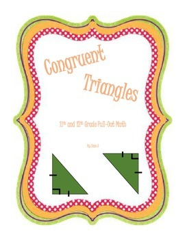 Congruent Triangles Lesson Plan Bundle