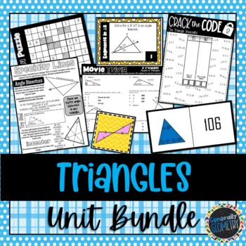 Congruent Triangles & Parts of Triangles Unit Bundle; Geometry