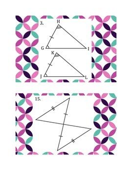 Congruent Triangles Postulates Walk Around Activity