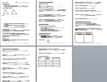 Congruent Triangles - PowerPoint, Notes, Proofs, and Practice BUNDLE