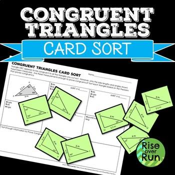 Congruent Triangles Practice Activity: Card Sort