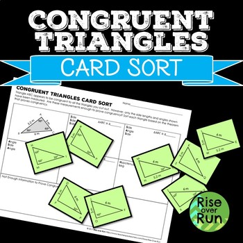 Congruent Triangles Card Sort