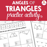 Angles of Triangles Activity {Triangle Angle Sum & Exterior Angle Theorems}