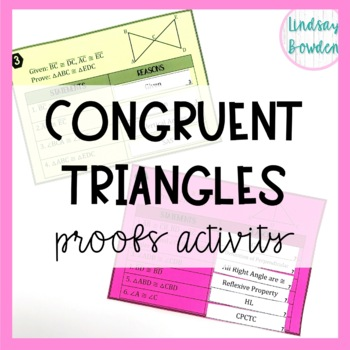 Congruent Triangles Proofs Activity