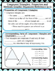 Congruent Triangles -Properties and Methods Reference/Graphic Organizer