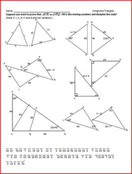 Congruent Triangles Puzzle
