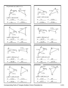 Congruent Triangles (Quiz)