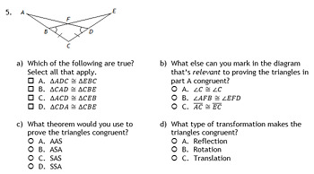 Congruent Triangles Review - Addressing Common Errors (Geometry)