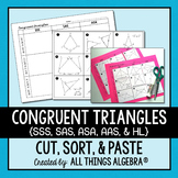 Triangle Congruence (SSS, SAS, ASA, AAS, and HL) Cut and Paste