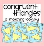 Congruent Triangles Matching Activity & More